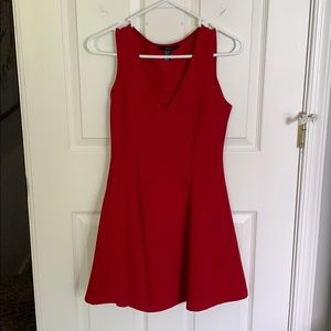 Red v neck fit and flare! Dress up or down!